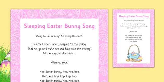 Sleeping Easter Bunny Song - Rabbit, sleeping eater bunny, song, rhyme, sleeping, easter bunny
