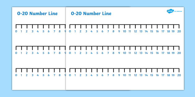 Numbers 0-20 Number Line - numbers, number line, line, 0-20