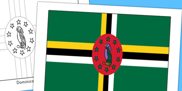 Dominica Flag Display Poster - countries, geography, display
