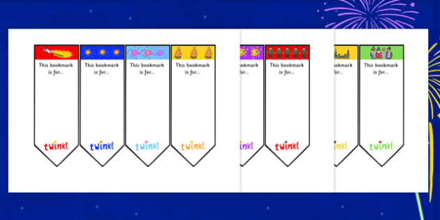Bonfire Night Bookmarks - bonfire night, bookmarks, behaviour management, classroom management, rewards, themed bookmarks, reading, books, writing
