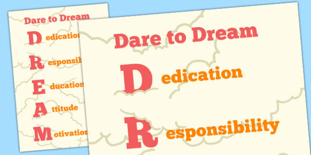 Dare to Dream Motivational Poster - motivational, poster, dream