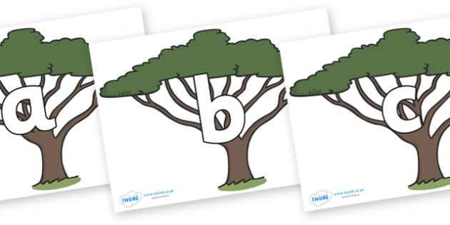 Phoneme Set on Acacia Trees - Phoneme set, phonemes, phoneme, Letters and Sounds, DfES, display, Phase 1, Phase 2, Phase 3, Phase 5, Foundation, Literacy