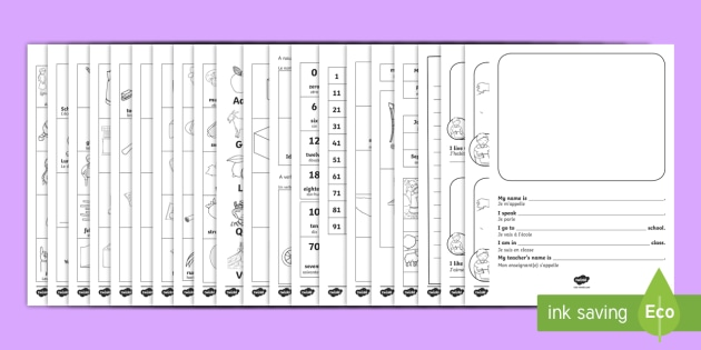 New Starter Welcome Activity Booklet English/French - Dual Language, New Starter, Welcome Booklets, French new starter, EAL, translation, key words, key p