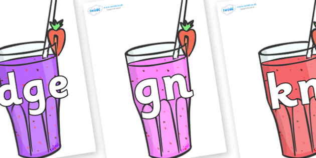 Silent Letters on Smoothies - Silent Letters, silent letter, letter blend, consonant, consonants, digraph, trigraph, A-Z letters, literacy, alphabet, letters, alternative sounds