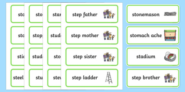 Three Syllable 'st' Blend Word Cards - st sound, blend, word cards