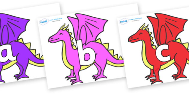 Phoneme Set on Dragons - Phoneme set, phonemes, phoneme, Letters and Sounds, DfES, display, Phase 1, Phase 2, Phase 3, Phase 5, Foundation, Literacy