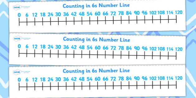 Counting In 6s Number Line - count, counting aid, maths, numeracy