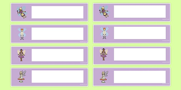 Fairy Themed Editable Gratnells Tray Labels - tray labels, fairy