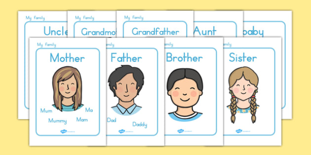 My Family Display Posters - family, ourselves, family display