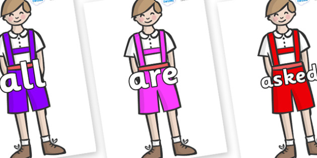 Tricky Words on Hansel - Tricky words, DfES Letters and Sounds, Letters and sounds, display, words