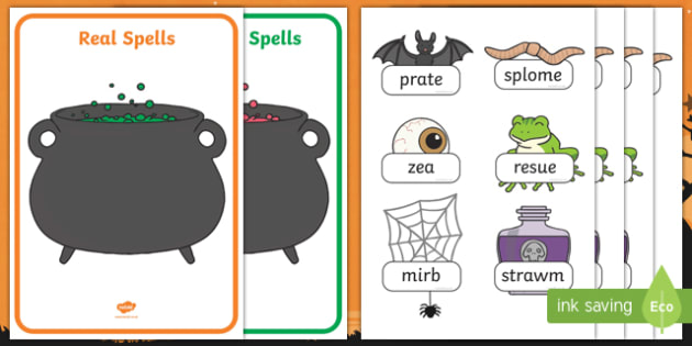 Halloween Themed Phase 5 Real and Nonsense Words Activity