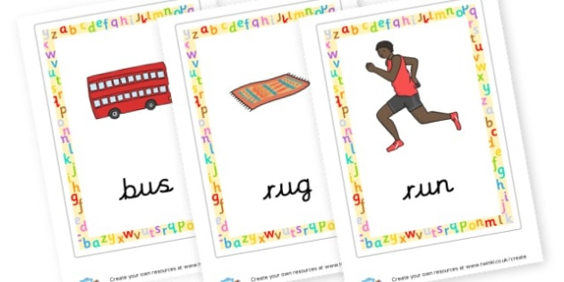 CVC Words (u) Posters - CVC Words Primary Resources, CVC, consonant, vowel, CVC word