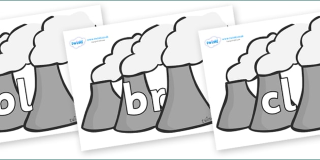 Initial Letter Blends on Power Stations - Initial Letters, initial letter, letter blend, letter blends, consonant, consonants, digraph, trigraph, literacy, alphabet, letters, foundation stage literacy