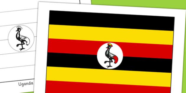 Uganda Flag Display Poster - countries, geography, display