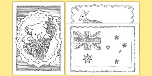 Australia Mindfulness Colouring Sheets - australia, mindfulness, colouring, colour, de-stress, calm down