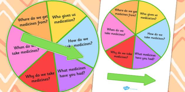 Medicine Questions Spinner - Medicine, Question, Spinner, Tablets