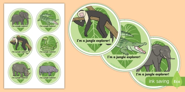 African Jungle Explorers Role Play Badges