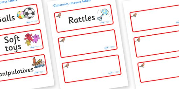 Robin Themed Editable Additional Resource Labels - Themed Label template, Resource Label, Name Labels, Editable Labels, Drawer Labels, KS1 Labels, Foundation Labels, Foundation Stage Labels, Teaching Labels, Resource Labels, Tray Labels, Printable la