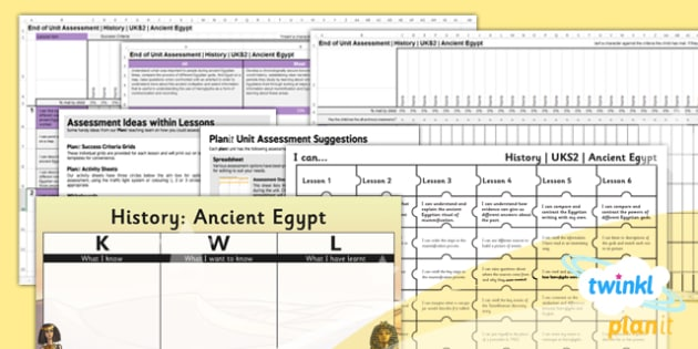 PlanIt - History LKS2 - Ancient Eygpt Unit Assessment Pack - assessment, record, data, baseline, nation, pack, objectives, criteria, success, national, curriculum, africa, culture, different