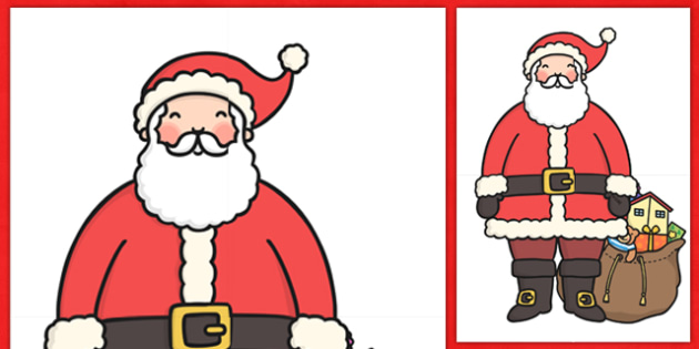 Extra Large Display Santa Cut-out - Christmas, xmas, santa, large display, display, tree, advent, nativity, santa, father christmas, Jesus, tree, stocking, present, activity, cracker, angel, snowman, advent , bauble