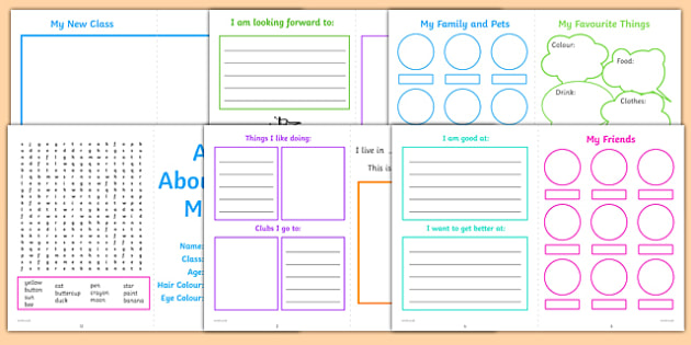 All About Me KS1 Activity Booklet