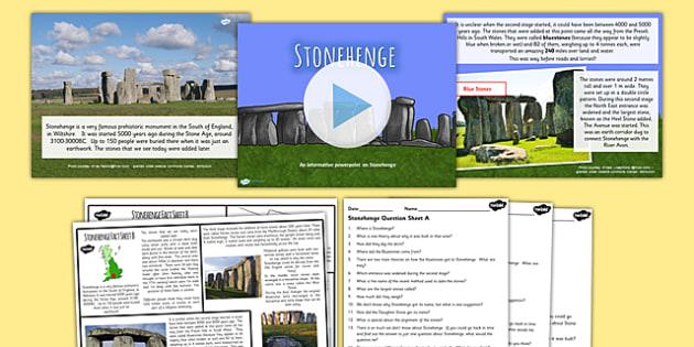 Stonehenge Iron Age Lesson Teaching Pack - the iron age, history