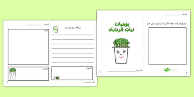 إطارات كتابة تنمية نبات الرشاد - تنمية، نباتات، وسائل، علوم