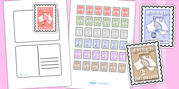 Blank Postcard Template - postcard, writing template, blank