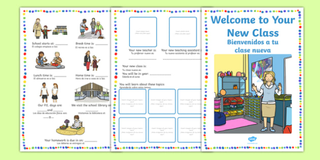 Welcome to Your New Class Booklet Spanish Translation