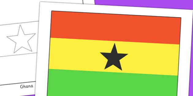 Ghana Flag Display Poster - geography, countries, display, ghana
