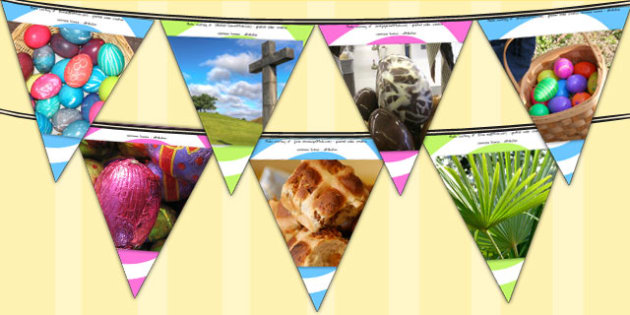 Easter Photo Bunting - easter, easter display, bunting, photos