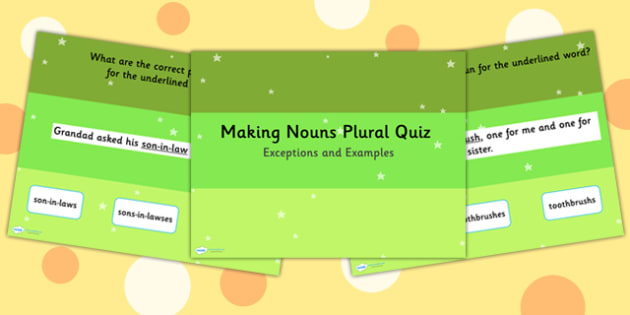 Making Noun Plural Tricky Examples and Exceptions SPaG PowerPoint