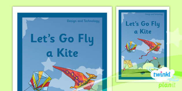 PlanIt - DT LKS2 - Let's Go Fly a Kite Unit Book Cover - planit, design and technology, dt, book cover, lks2, lets go fly a kite