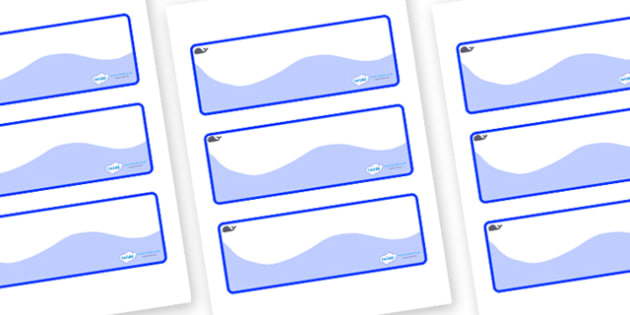 Blue Whale Themed Editable Drawer-Peg-Name Labels (Colourful) - Themed Classroom Label Templates, Resource Labels, Name Labels, Editable Labels, Drawer Labels, Coat Peg Labels, Peg Label, KS1 Labels, Foundation Labels, Foundation Stage Labels, Teachi