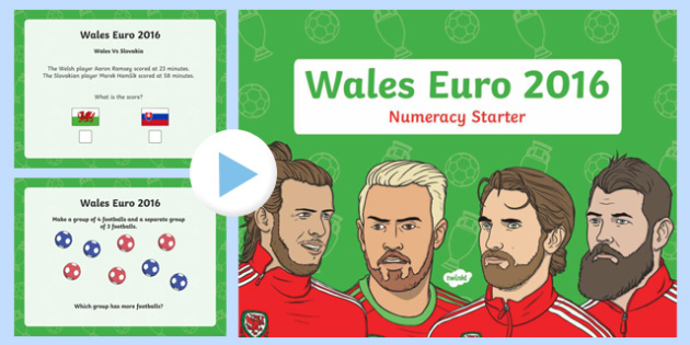 Euro 2016 Wales Numeracy Starter Year 1 PowerPoint-Welsh