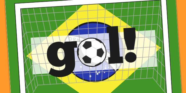 Brazil Goal Display Poster - display, poster, goal, brazil, sport