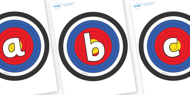 Phoneme Set on Plain Targets - Phoneme set, phonemes, phoneme, Letters and Sounds, DfES, display, Phase 1, Phase 2, Phase 3, Phase 5, Foundation, Literacy