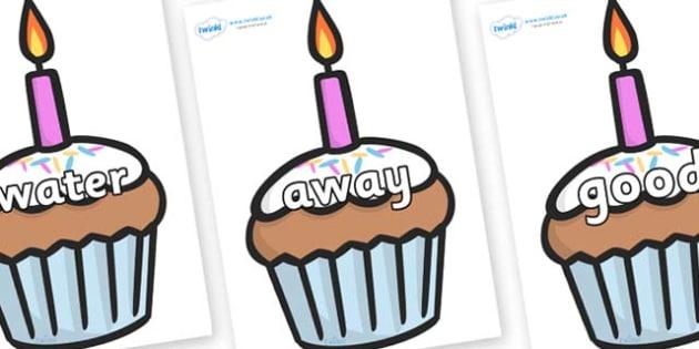 Next 200 Common Words on Cupcakes - Next 200 Common Words on  - DfES Letters and Sounds, Letters and Sounds, Letters and sounds words, Common words, 200 common words