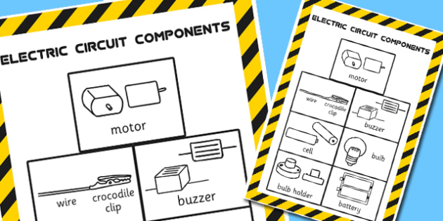 Year 4 Circuit Components Classroom Display Poster - electricity