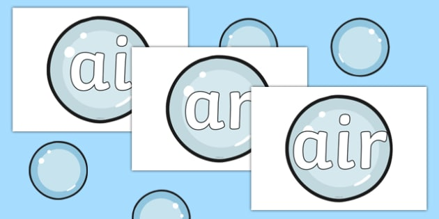 Phase 3 Phonemes on Bubbles - Phonemes, phoneme, Phase 3, Phase three, Foundation, Literacy, Letters and Sounds, DfES, display