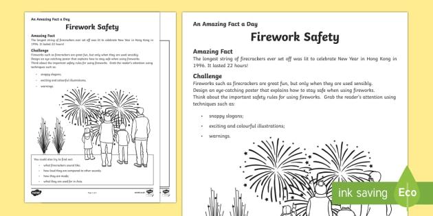 Firework Safety Activity Sheet