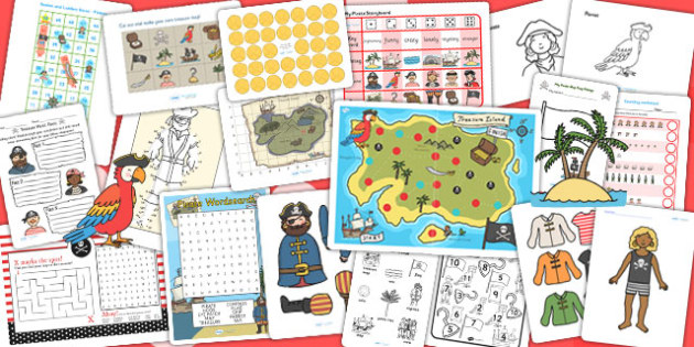 KS1 Pirate Activity Pack - pirates, pirate games, activities