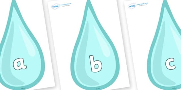 Phase 2 Phonemes on Water Drops - Phonemes, phoneme, Phase 2, Phase two, Foundation, Literacy, Letters and Sounds, DfES, display