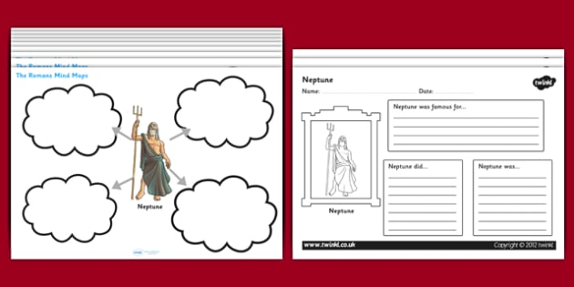 Roman Mind Maps Writing Frames - romans, the romans, roman mind maps, roman worksheets, roman gods, roman people, roman buildings, roman culture, ks2 history, ks2