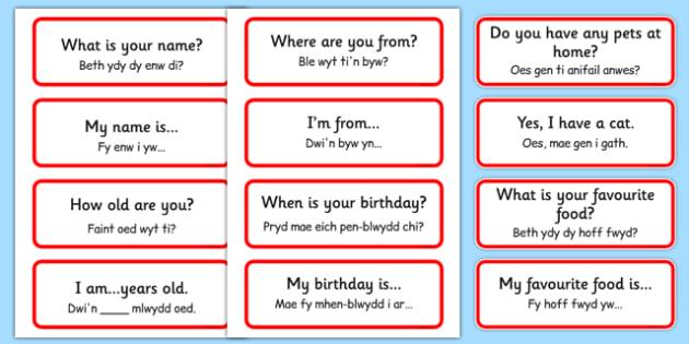 Ymadroddion Cymraeg Word Cards - Ymadroddion Cymraeg, Welsh Basic Phrases