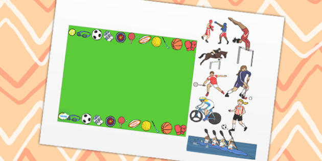 Sports Themed Editable PowerPoint Background Template - sports, editable powerpoint, powerpoint, background template, themed powerpoint, editable