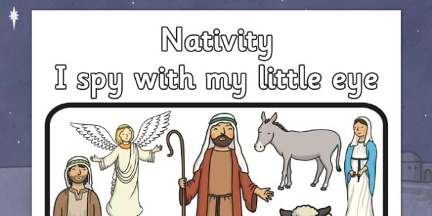 I Spy With My Little Eye Nativity Activity - I spy, little eye, christmas, activity, nativity