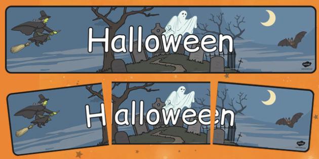 Halloween - Banner - Halloween, Banner, de afișat, de perete, decor, romanian, materiale, materiale didactice, română, romana, material, material didactic