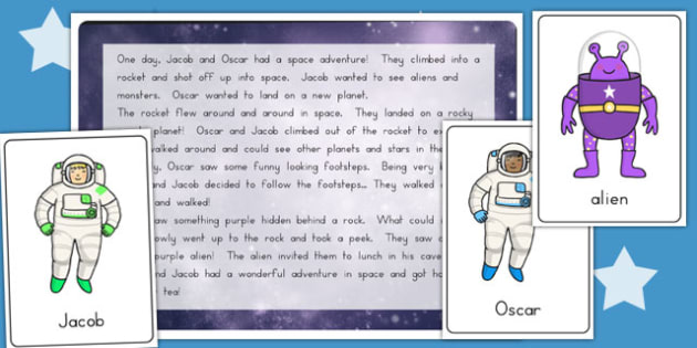 Space Themed Listening Story Activity - speaking and listening, s&l, topic, science, hearing, tale, early years, ks1, key stage 1, astro,
