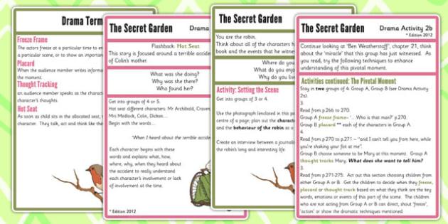 The Secret Garden Drama Activities - secret garden, activity